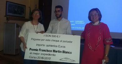 ASECOC premia al mejor expediente del IES Alagón en la especialidad de electromecánica