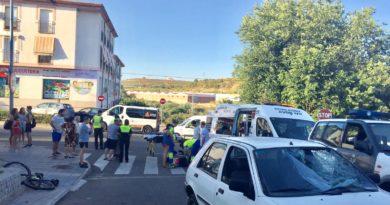 Un ciclista resulta herido tras una colisión con un turismo en Coria