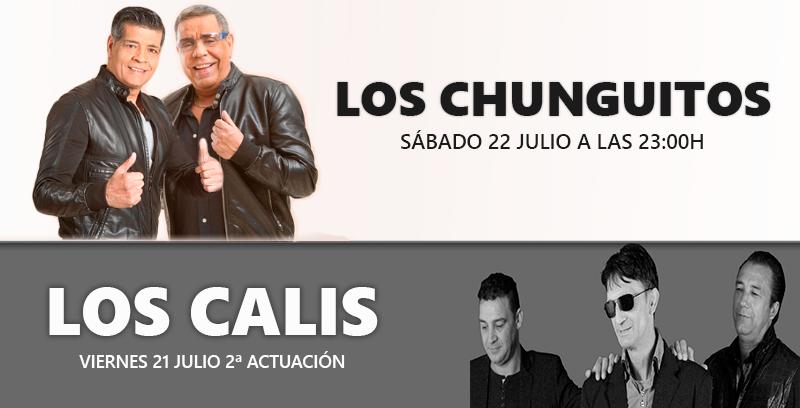 Los Calis y Los Chunguitos actuarán en Coria durante este fin de semana