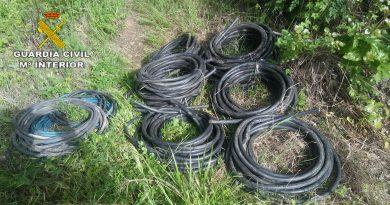 Detienen a tres individuos por un supuesto robo de cable de cobre en una gravera de Coria