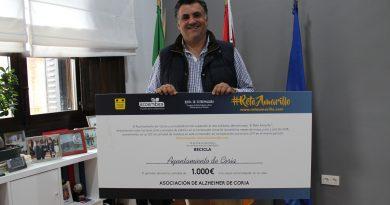 Coria supera el RetoAmarillo de reciclaje y destina el premio a la Asociación de Alzheimer