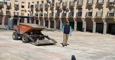 Comienzan las obras de impermeabilización de la Plaza de Salamanca