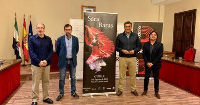 Sara Baras inaugurará el Festival de Guitarra de Coria