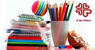 Cáritas volverá a realizarla campaña de recogida de material escolar