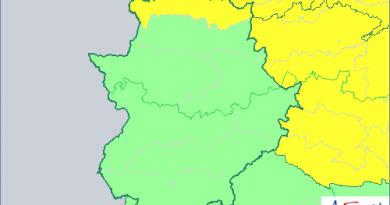 Alerta Amarilla por lluvias en el norte de Cáceres