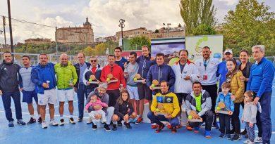 Finaliza con éxito el Campeonato de Extremadura de Tenis Veteranos celebrado en Coria