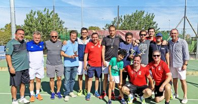 El Club de Tenis Cauria Campeón de Extremadura de Tenis Veteranos
