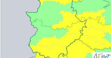 Alerta amarilla por lluvia y viento para este lunes